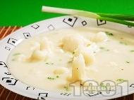 Супа от карфиол и прясно мляко